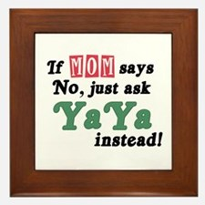 Just Ask YaYa! Framed Tile