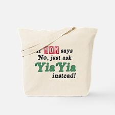 Just Ask YiaYia! Tote Bag