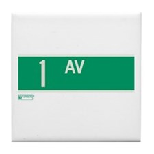 1st Avenue in NY Tile Coaster