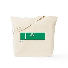 1st Avenue in NY Tote Bag