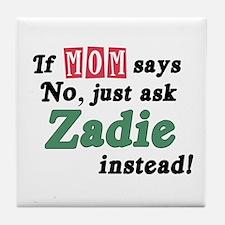 Just Ask Zadie! Tile Coaster