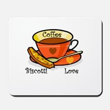 Coffee Biscotti Love Mousepad