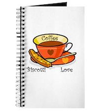 Coffee Biscotti Love Journal