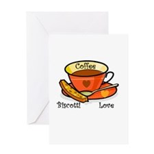 Coffee Biscotti Love Greeting Card