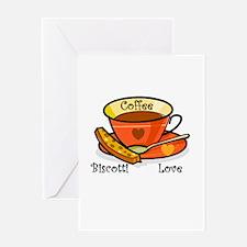 Coffee Biscotti Love Greeting Card