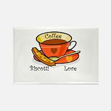 Coffee Biscotti Love Rectangle Magnet