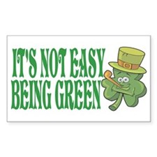 It's not easy being green Rectangle Decal