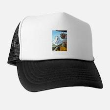 Matterhorn with flowers Trucker Hat