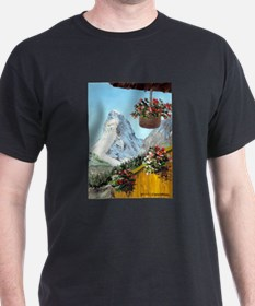 Matterhorn with flowers T-Shirt