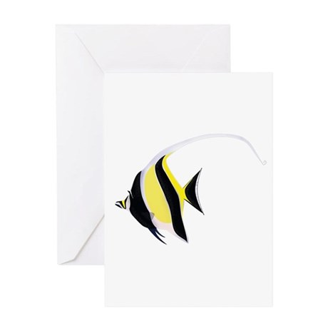 Moorish Idol Greeting Card