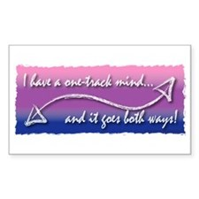 One Track Mind Rectangle Decal