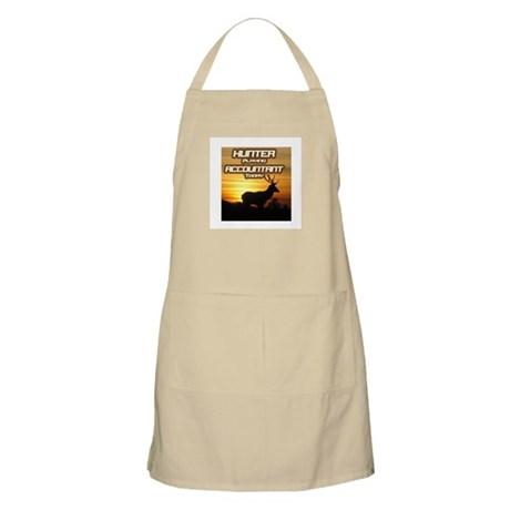 """Hunter Playing Accountant Today"" BBQ Apron"