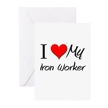 I Heart My Iron Worker Greeting Cards (Pk of 10)