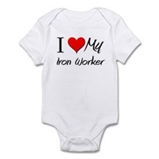 I Heart My Iron Worker Infant Bodysuit