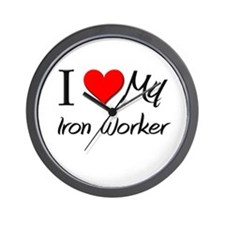 I Heart My Iron Worker Wall Clock