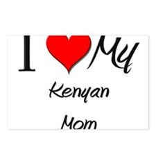 I Love My Kenyan Mom Postcards (Package of 8)