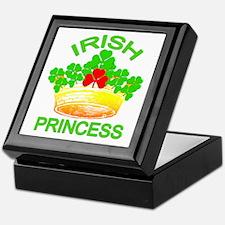 Irish Princess with Gold Crown Keepsake Box