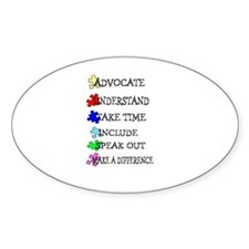 Advocate, Understand, Make a Oval Decal