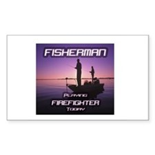 """""""Fisherman Playing Firefighter Today"""" Decal"""
