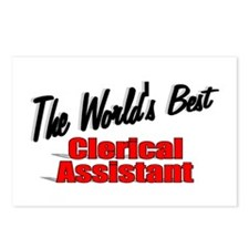 """The World's Best Clerical Assistant"" Postcards (P"