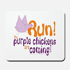 Purple Chickens Mousepad