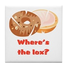 Where's the lox?  Tile Coaster