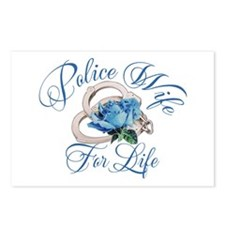 Police Wife For Life Postcards (Package of 8)