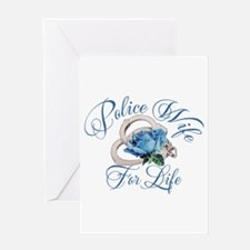 Police Wife For Life Greeting Card