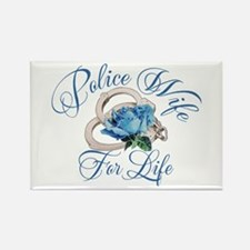 Police Wife For Life Rectangle Magnet