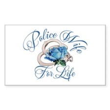 Police Wife For Life Rectangle Decal