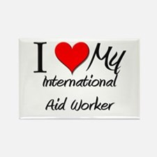 I Heart My International Aid Worker Rectangle Magn