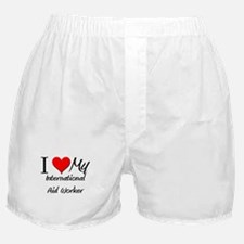 I Heart My International Aid Worker Boxer Shorts
