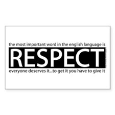 Respect Rectangle Decal