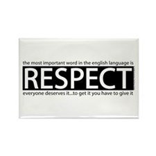 Respect Rectangle Magnet