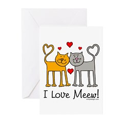 I Love Meew! Greeting Cards (Pk of 20)