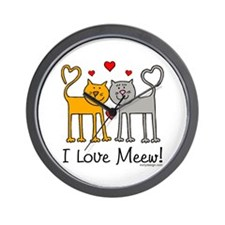 I Love Meew! Wall Clock