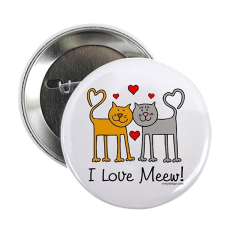 """I Love Meew! 2.25"""" Button (100 pack)"""