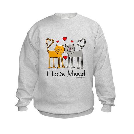I Love Meew! Kids Sweatshirt