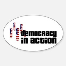 Democracy in Action Oval Decal