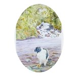 Landseer Newfoundland Oval Ornament