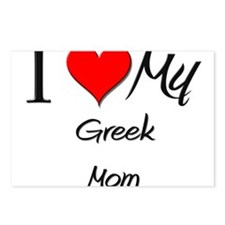 I Love My Greek Mom Postcards (Package of 8)