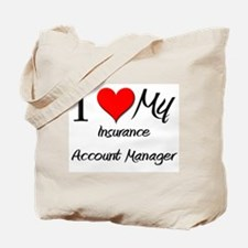 I Heart My Insurance Account Manager Tote Bag