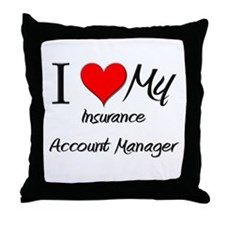 I Heart My Insurance Account Manager Throw Pillow