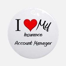 I Heart My Insurance Account Manager Ornament (Rou