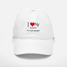 I Heart My Insurance Account Manager Baseball Baseball Cap