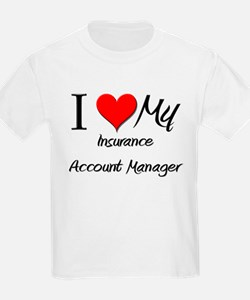 I Heart My Insurance Account Manager T-Shirt