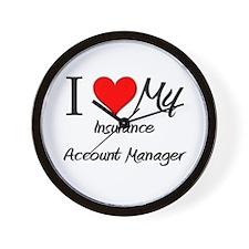 I Heart My Insurance Account Manager Wall Clock