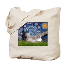 Starry / Lilac Pt Siamese cat Tote Bag