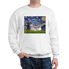 Starry / Lilac Pt Siamese cat Sweatshirt