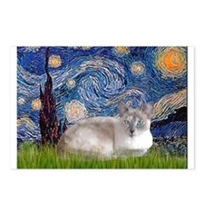 Starry / Lilac Pt Siamese cat Postcards (Package o